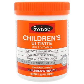 Swisse, Children's Ultivite Multivitamin, 120 Chewable Tablets