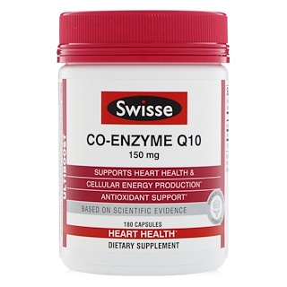 Swisse, Co-Enzyme Q10, 150 mg , 180 Capsules