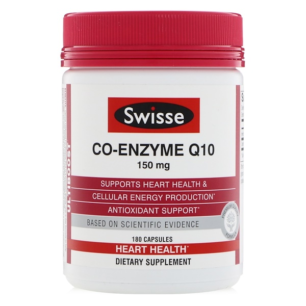 Swisse, Ultiboost, Co-Enzyme Q10, 150 mg, 180 Capsules