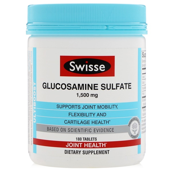 Swisse, Ultiboost, Glucosamine Sulfate, 1,500 mg, 180 Tablets (Discontinued Item)