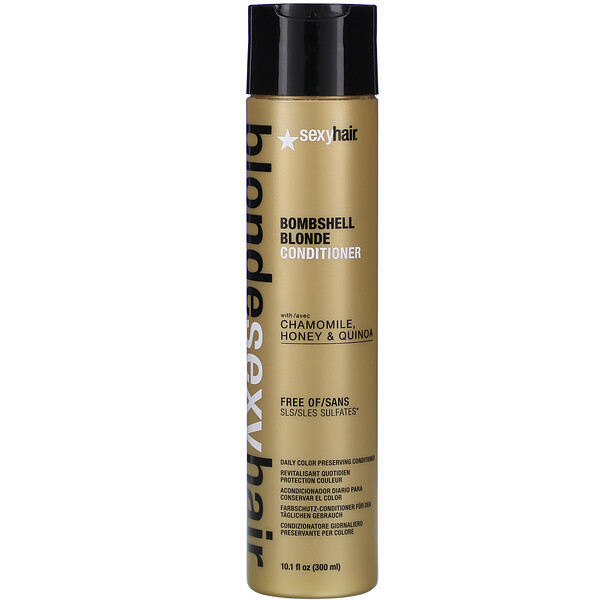 Sexy Hair, Blonde Sexy Hair, Bombshell Blonde Conditioner, 10.1 fl oz (300 ml) (Discontinued Item)