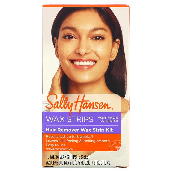 Hair Remover Wax Strip Kit, 34 Wax Strips