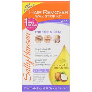 Sally Hansen, Hair Remover Wax Strip Kit, 34 Wax Strips + Finishing Oil отзывы