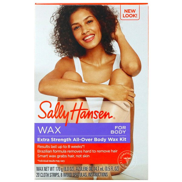 Sally Hansen, Extra Strength All-Over Body Wax Hair Kit, 1 Kit