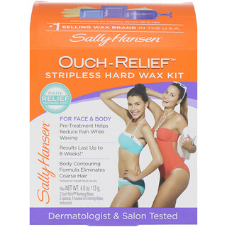 Sally Hansen, Ouch-Relief Stripless Hard Wax Kit for Face & Body, 1 Kit