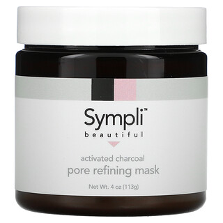 Sympli Beautiful, Activated Charcoal Pore Refining Beauty Mask, 4 oz (113 g)