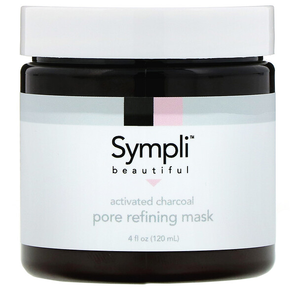 Sympli Beautiful, Activated Charcoal Pore Refining Mask, 4 fl oz (120 ml)