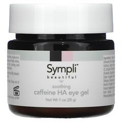 Sympli Beautiful, Soothing Caffeine Hyaluronic Acid Eye Gel, 1 oz (28 g)