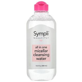 Sympli Beautiful, All In One Micellar Cleansing Water, 13.5 fl oz (400 ml)