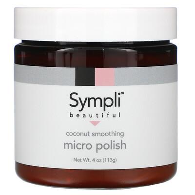 Купить Sympli Beautiful кокосовый скраб для гладкости кожи, 113г (4унции)