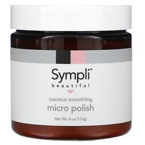 Sympli Beautiful, Micropolidor Esfoliante de Coco, 113 g (4 oz)