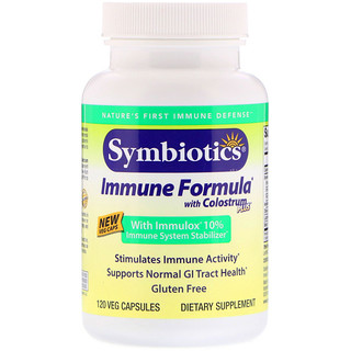 Symbiotics, Immune Formula, with Colostrum Plus, 120 Veg Capsules