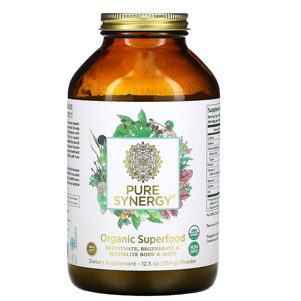 Pure Synergy, Organic Superfood Powder, 12.5 oz (354 g)