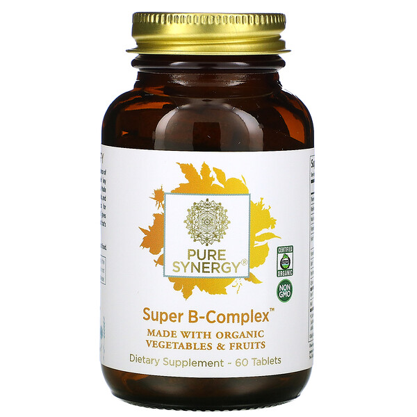 Pure Synergy, Super B-Complex العضوي، ، 60 قرص