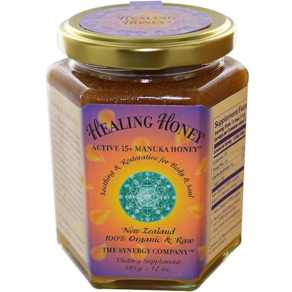 The Synergy Company, Healing Honey, Активный 15 + Манука Мед 12 унции (340 г) (Discontinued Item)