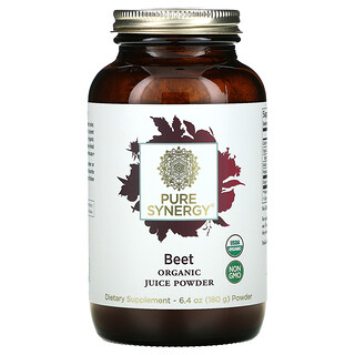 Pure Synergy, Organic Juice Powder, Beet, 6.4 oz (180 g)