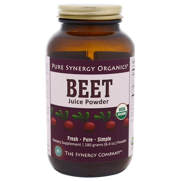The Synergy Company, Organic Beet Juice Powder, 6.4 oz (180 g) (Discontinued Item)