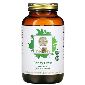 Pure Synergy, Barley Grass Organic Juice Powder, 5.3 oz (150 g) отзывы