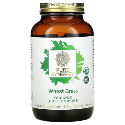 Pure Synergy Wheat Grass, Organic Juice Powder, 5.3 oz ( 150 g)