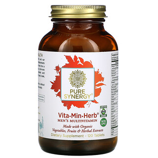 Pure Synergy, Vita·Min·Herb, Men's Multivitamin, 120 Tablets