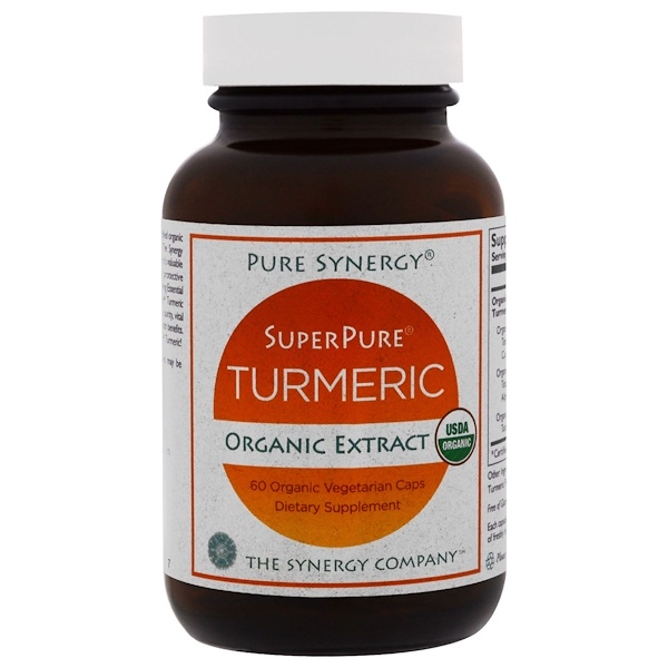 The Synergy Company, Organic SuperPure Turmeric Extract, 60 Organic Vegetarian Caps