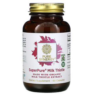 Pure Synergy,  Super Pure Milk Thistle Organic Extract, 60  Capsules