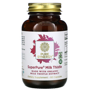 Pure Synergy, Super Pure Milk Thistle Organic Extract, 60  Capsules отзывы покупателей