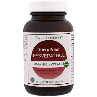 The Synergy Company, Pure Synergy, extrait de resvératrol bio ultra-pur, 60 gélules bio