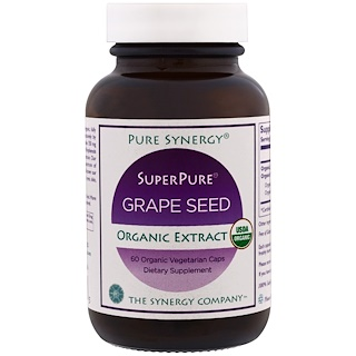 The Synergy Company, Pure Synergy, Organic Super Pure Grape Seed Organic Extract, 60 Organic Vegetarian Caps