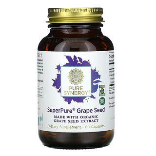 Pure Synergy, بذور العنب من Super Pure، عدد 60 كبسولة