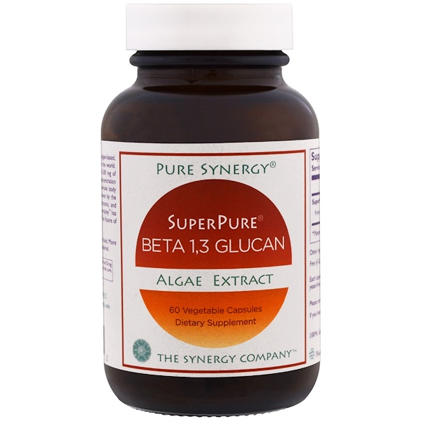 Pure Synergy, SuperPure, Beta 1,3 Glucano, extracto de alga , 60 cáp. vegetales