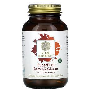 Pure Synergy, SuperPure, Beta 1,3 Glucan, Algae Extract, 60 Capsule отзывы