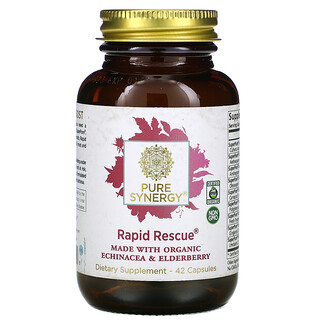 Pure Synergy, Rapid Rescue, 42 Capsules