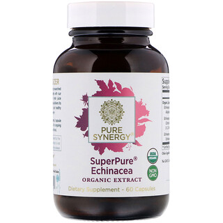 The Synergy Company, SuperPure Echinacea Organic Extract, 60 Capsules
