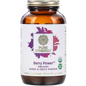 Pure Synergy, Berry Power, Organic Berry & Fruit Powder, 5.3 oz (150 g) отзывы