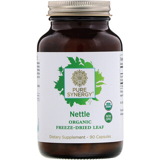 Pure Synergy, Nettle, Organic Freeze-Dried Leaf, 90 Capsules