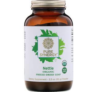 Pure Synergy, Nettle, Organic Freeze-Dried Leaf Powder, 2.3 oz (65 g) отзывы