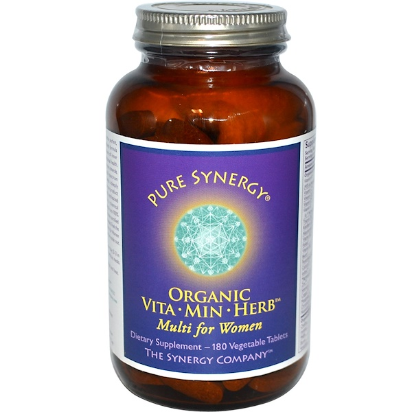 The Synergy Company, Pure Synergy, Organic Vita·Min·Herb Multi for Women, 180 Veggie Tabs (Discontinued Item)