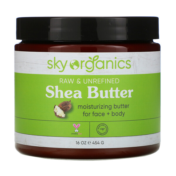 Sky Organics, Shea Butter, Raw & Unrefined, 16 fl oz (454 g)