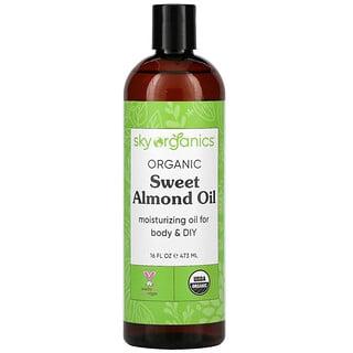 Sky Organics, Organic Sweet Almond Oil, 16 fl oz (473 ml)