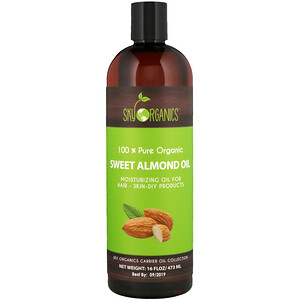 Sky Organics, 100% Pure Organic, Sweet Almond Oil, 16 fl oz (473 ml) отзывы покупателей