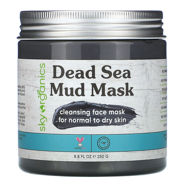 Sky Organics, Maske mit Schlamm aus dem Toten Meer, 250 g (8,8 fl oz)