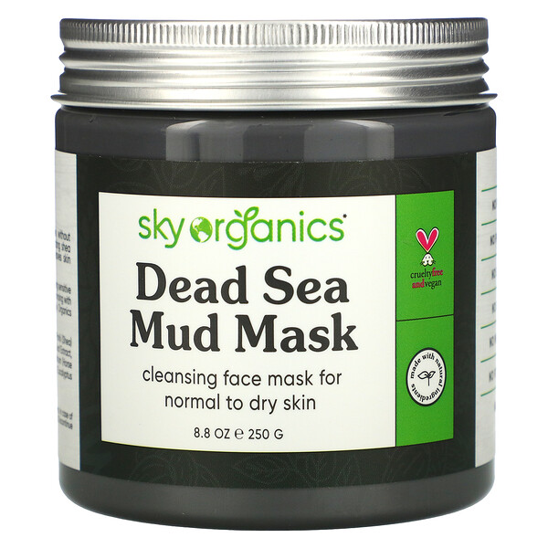 Sky Organics, Dead Sea Mud Beauty Mask, 8.8 fl oz (250 g)