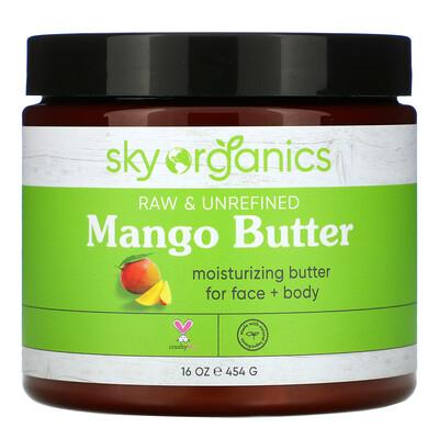 Купить Sky Organics Organic Unrefined Raw, Mango Butter, 16 fl oz (454 g)