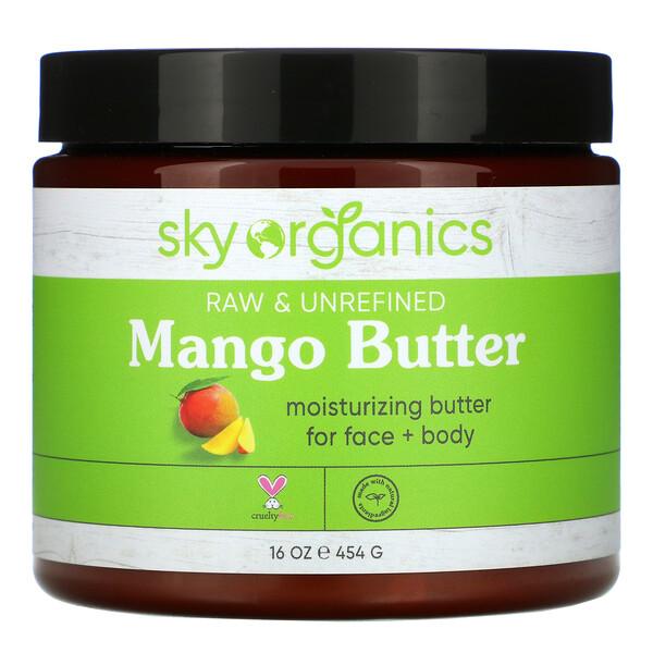 Sky Organics, Organic Unrefined Raw, Mango Butter, 16 fl oz (454 g)