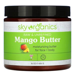 Sky Organics, Mango Butter, Raw & Unrefined, 16 oz (454 g) отзывы покупателей