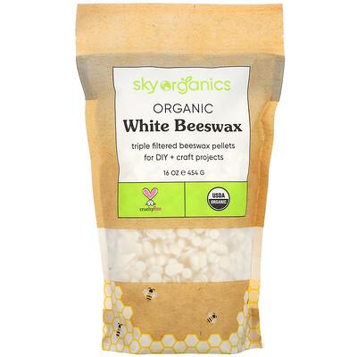 Купить Sky Organics органический белый пчелиный воск, 454г (16унций)