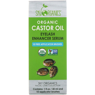 Sky Organics, Organic Castor Oil, Eyelash Enhancer Serum, 1 fl oz (30 ml)