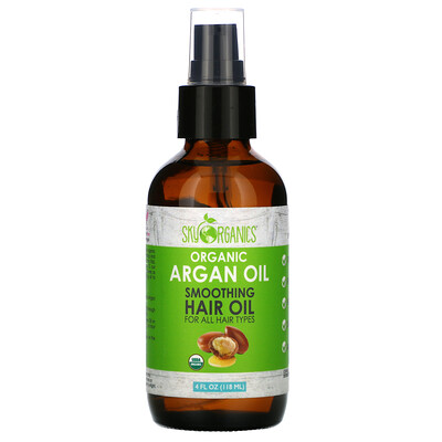 Купить Sky Organics Organic Argan Oil, 4 fl oz (118 ml)