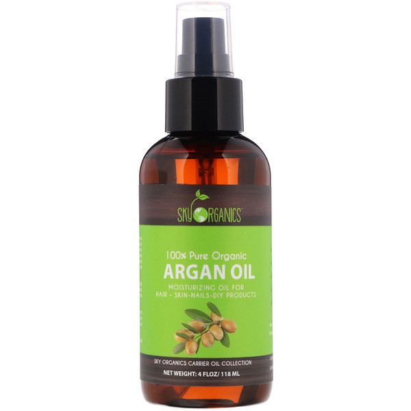 Sky Organics, 100% Pure Organic, Argan Oil, 4 fl oz (118 ml)